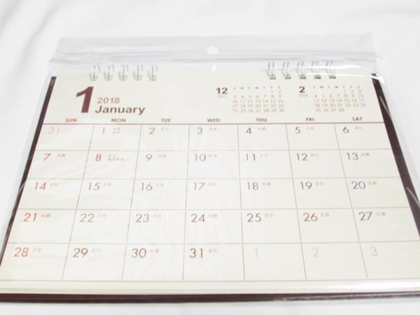 レビュー 100均 cando カレンダー 2018 卓上 シンプルベーシック